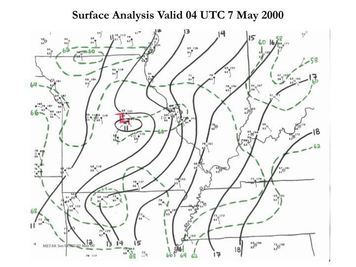 Surface Analysis Valid 04 UTC 7 May 2000