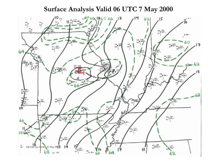 Surface Analysis Valid 06 UTC 7 May 2000