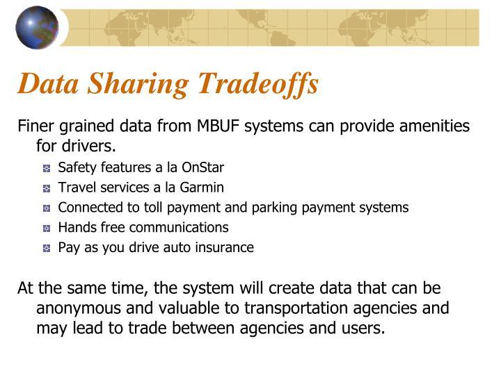 Data Sharing Tradeoffs