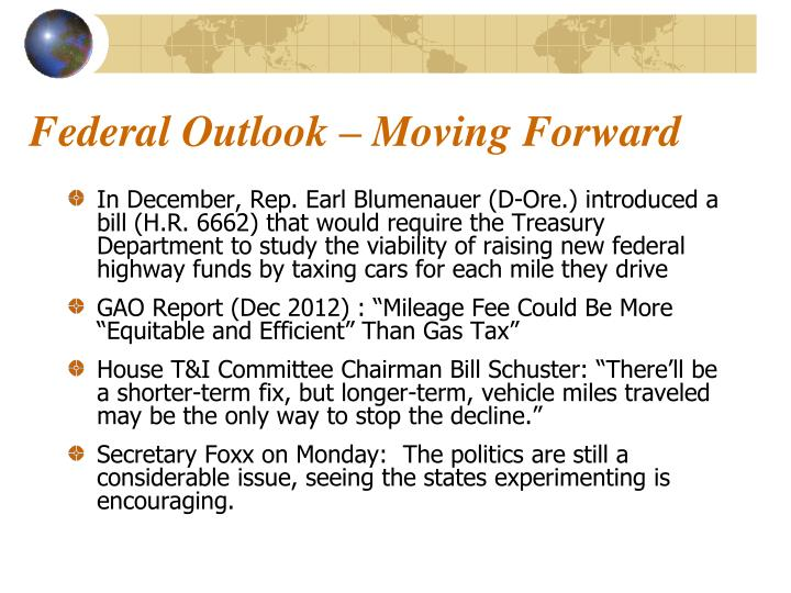 Federal Outlook – Moving Forward