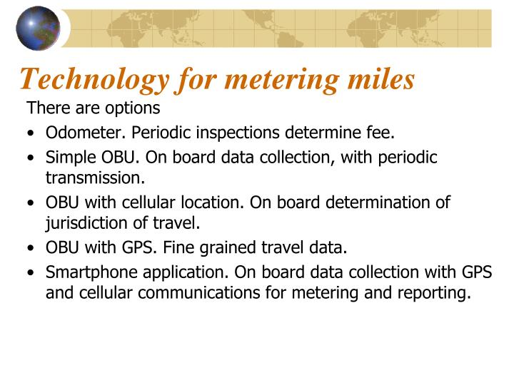 Technology for metering miles