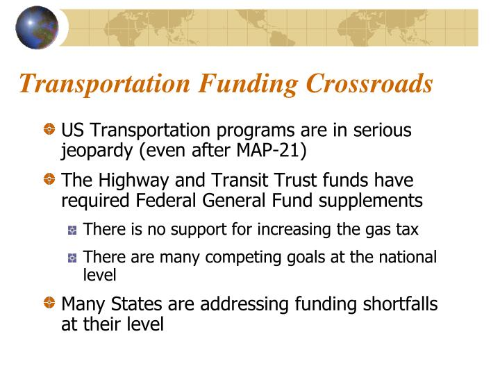 Transportation funding crossroads
