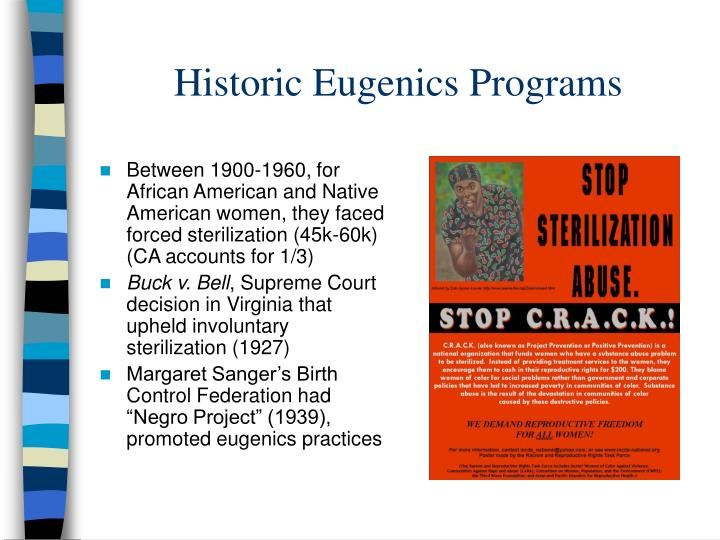 Historic Eugenics Programs