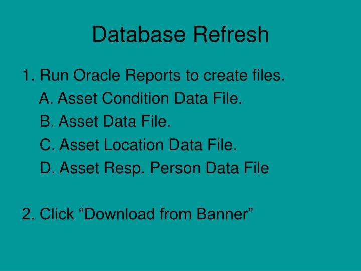 Database refresh