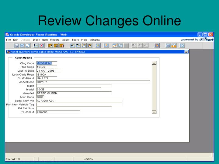 Review Changes Online