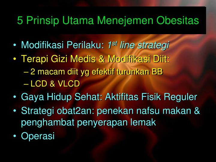 5 Prinsip Utama Menejemen Obesitas