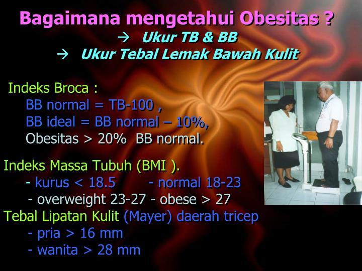 Bagaimana mengetahui Obesitas ?