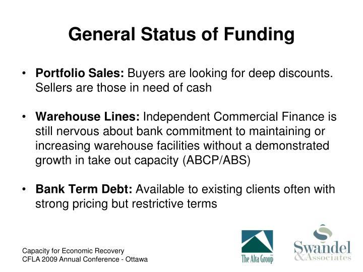 General Status of Funding