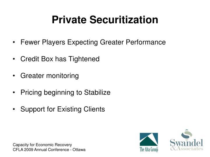 Private Securitization