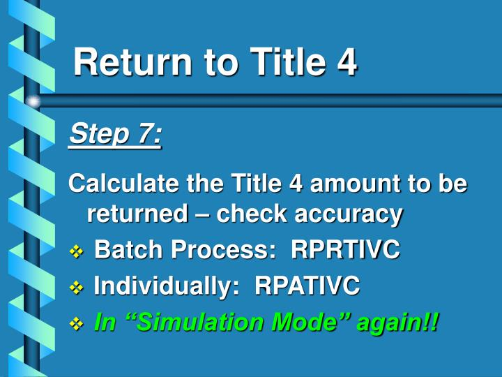 Return to Title 4