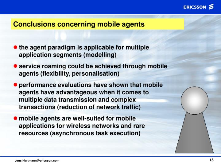 Conclusions concerning mobile agents