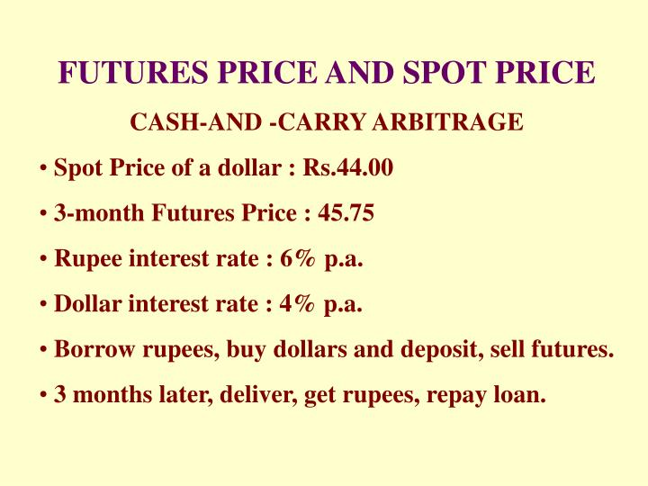 FUTURES PRICE AND SPOT PRICE