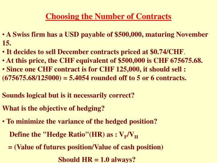 Choosing the Number of Contracts