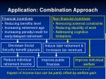 application combination approach