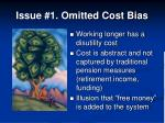 issue 1 omitted cost bias
