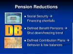 pension reductions