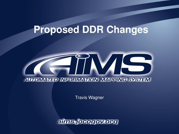 proposed ddr changes n.