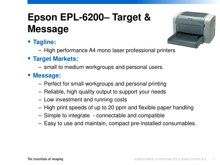 Epson EPL-6200– Target & Message