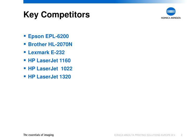 Key competitors