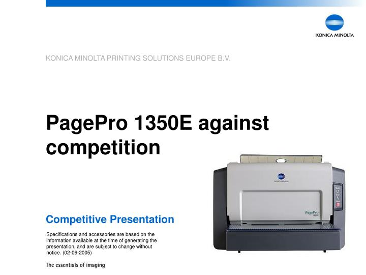 Pagepro 1350e against competition