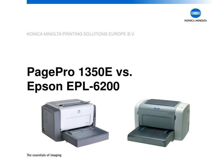 Pagepro 1350e vs epson epl 6200
