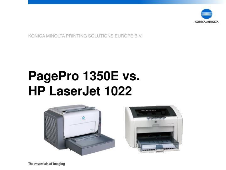 PagePro 1350E vs.