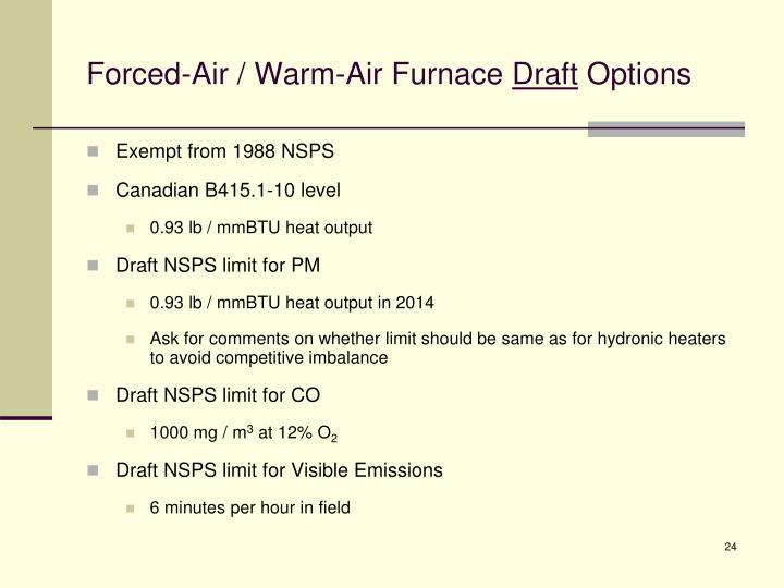 Forced-Air / Warm-Air Furnace
