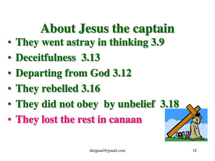 About Jesus the captain