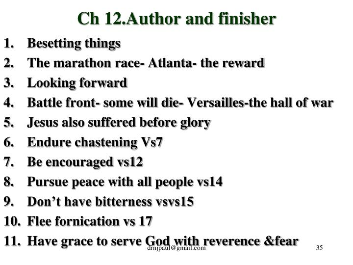 Ch 12.Author and finisher