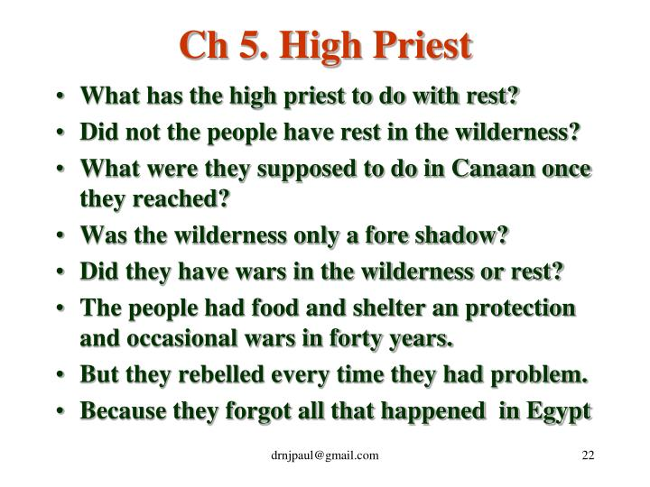 Ch 5. High Priest