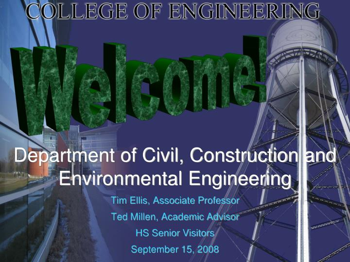 department of civil construction and environmental engineering n.