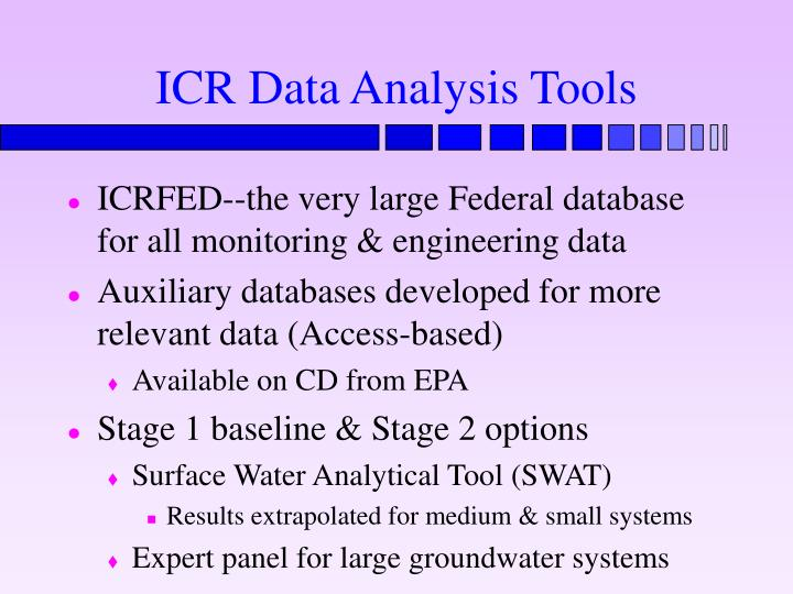 ICR Data Analysis Tools