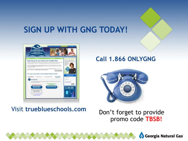 SIGN UP WITH GNG TODAY!