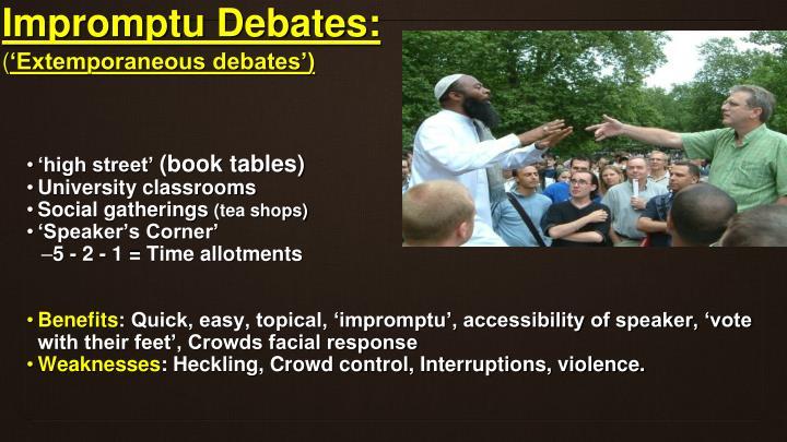 Impromptu Debates: