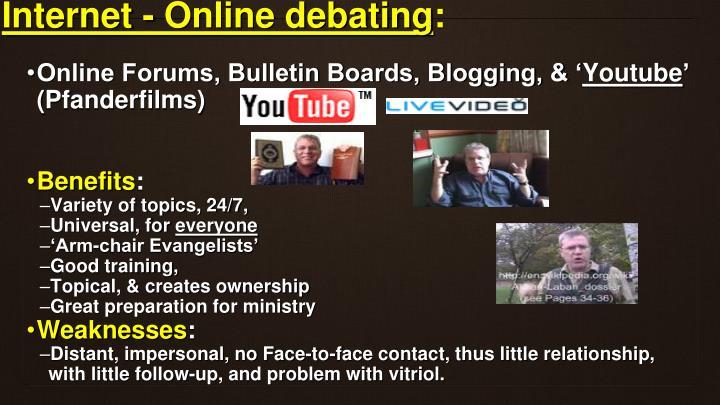 Internet - Online debating