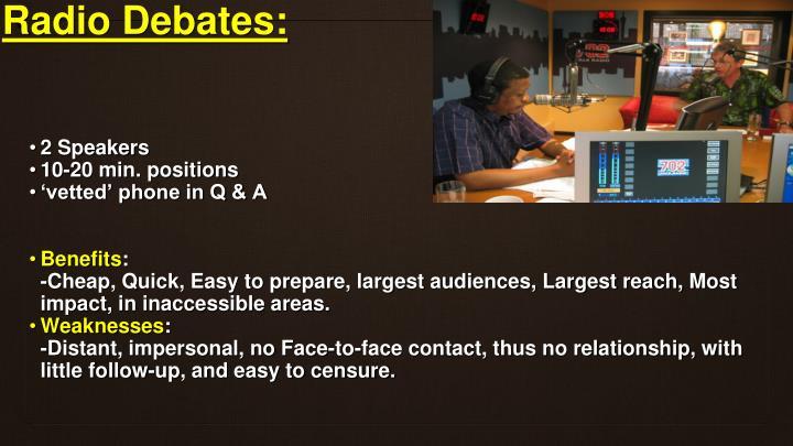 Radio Debates: