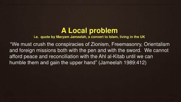A Local problem