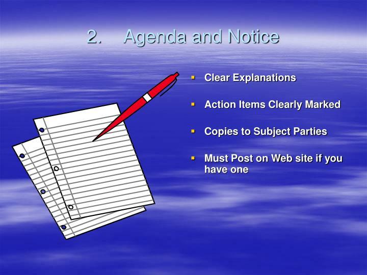 2.Agenda and Notice