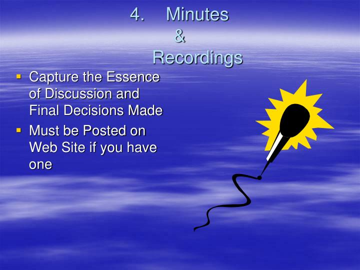 4.Minutes