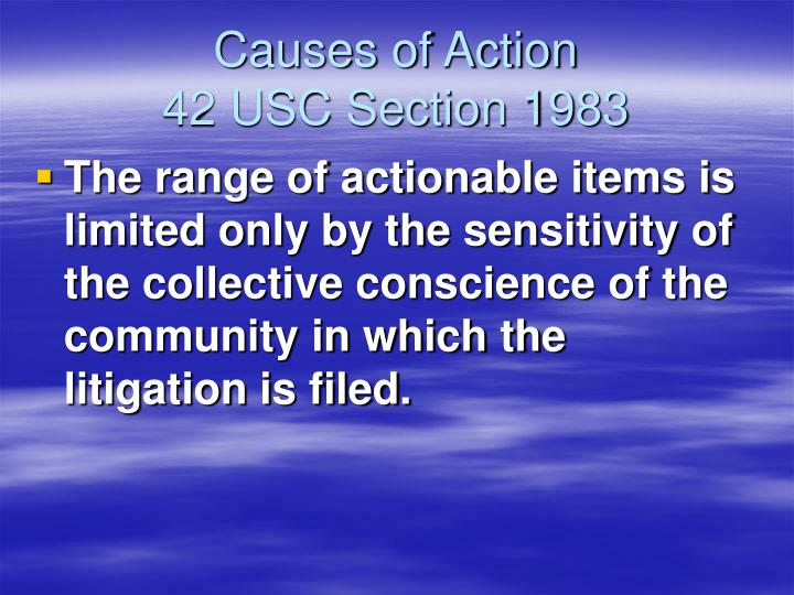 Causes of Action