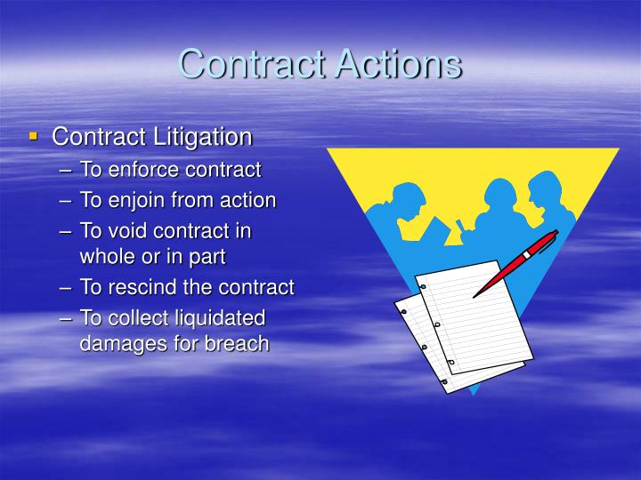 Contract Actions