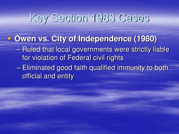 Key Section 1983 Cases