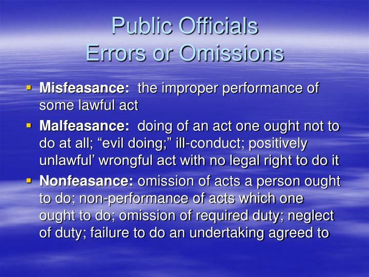 Public Officials