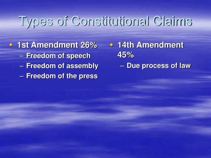 1st Amendment 26%