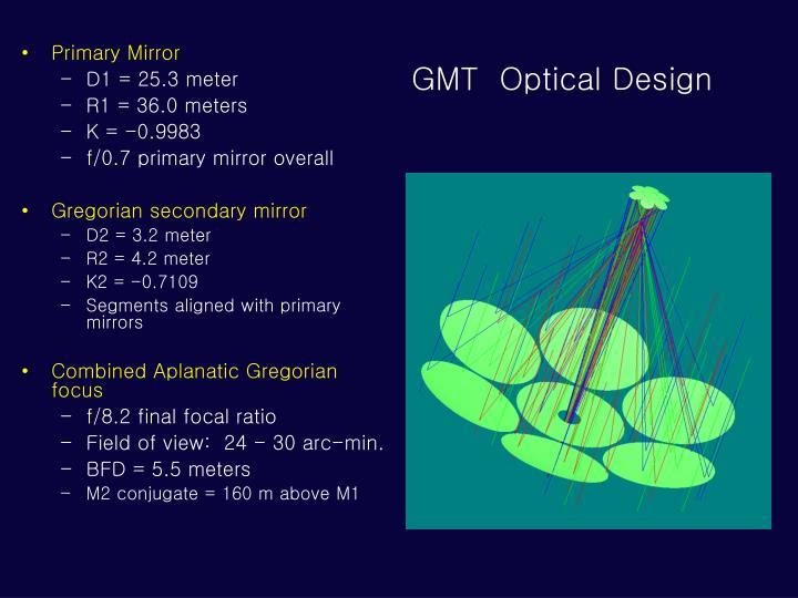 GMT  Optical Design