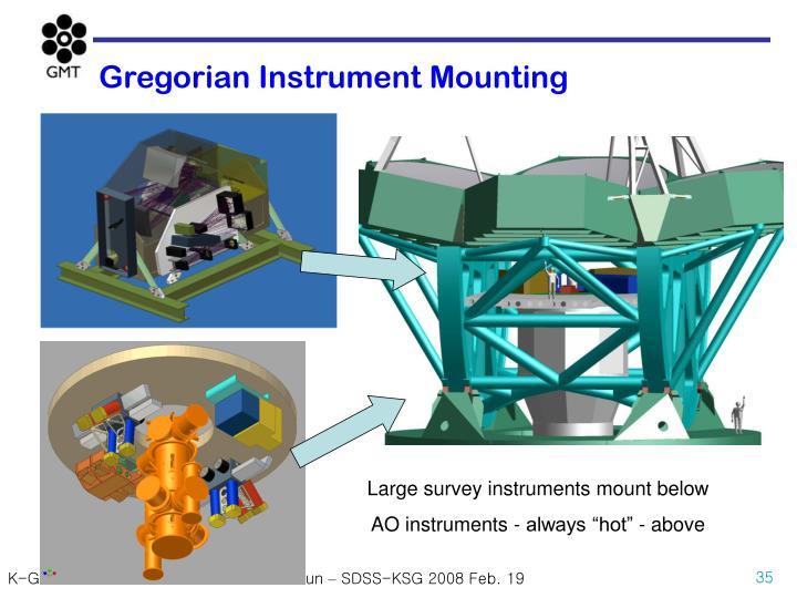 Gregorian Instrument Mounting