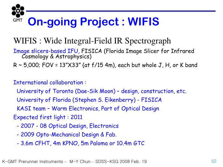 On-going Project : WIFIS