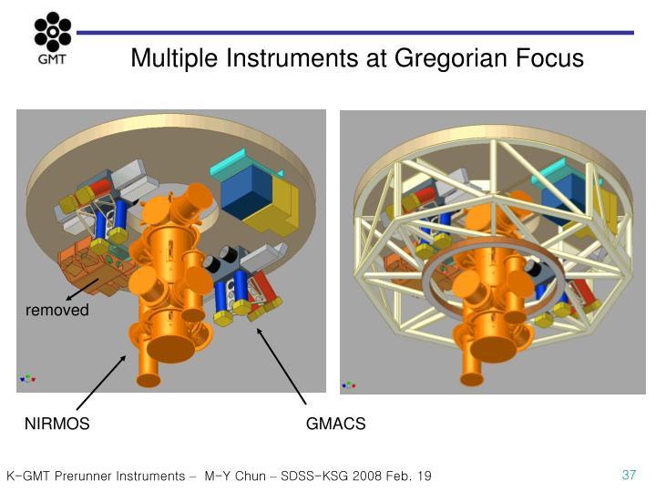 Multiple Instruments at Gregorian Focus