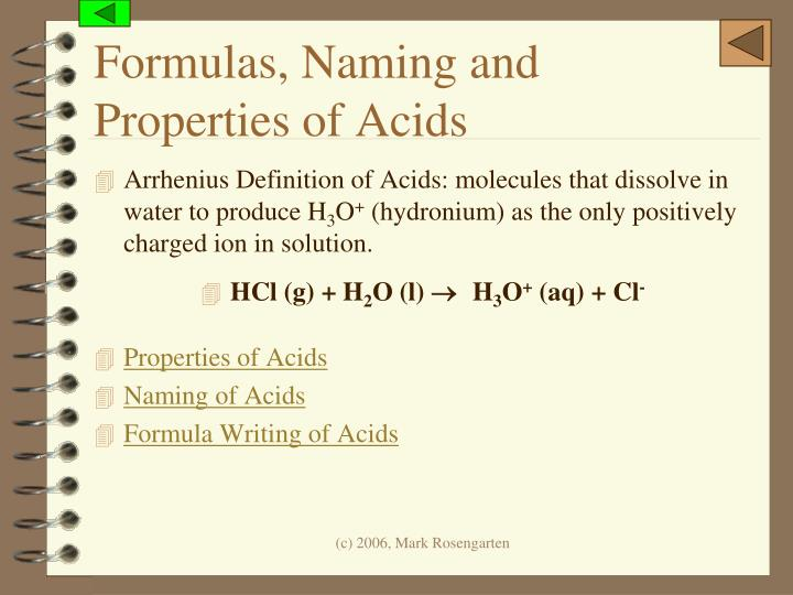 Formulas, Naming and