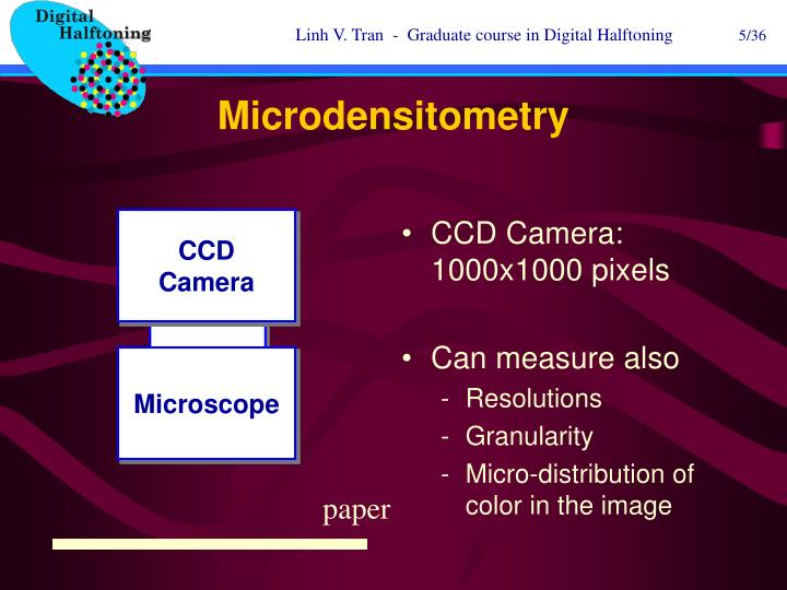 Microdensitometry